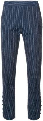 Rosie Assoulin polka dot cropped trousers