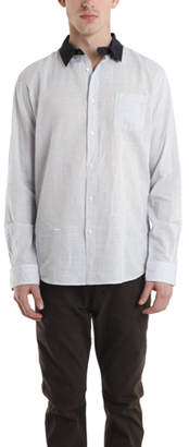 Robert Geller Contrast Collar Dress Shirt