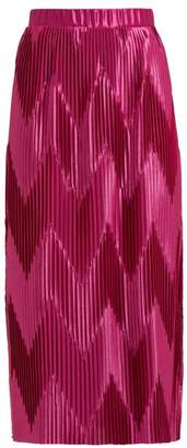 Givenchy Pleated Satin Midi Skirt - Womens - Pink