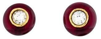 Chanel Crystal & Resin Clip-On Earrings