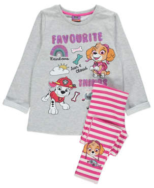 George PAW Patrol Grey Slogan Sweatshirt and Leggings Outfit