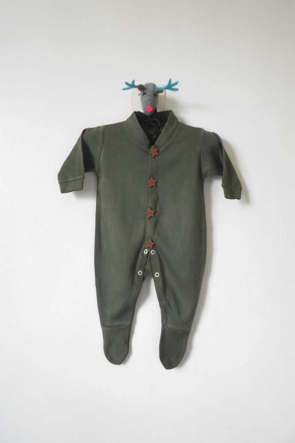 Scarecrow Kids Unisex Khaki Onesie