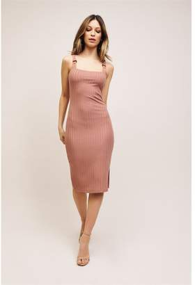 Dynamite Bodycon Dress With Ring Detail Burlwood Pink