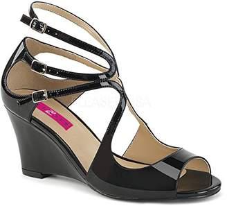 Pleaser USA Pink Label Women's Kim04/b Wedge Sandal