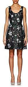 Prabal Gurung Women's Floral Jacquard Minidress - Blk, Green multi