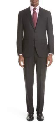 Canali Siena Classic Fit Stripe Wool Suit