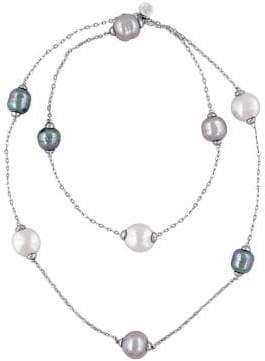 Majorica 12-15MM Multi-Color Baroque Pearl and Sterling Silver Necklace