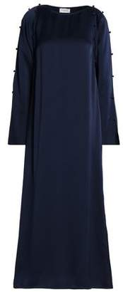 Lanvin Button-Detailed Satin Gown