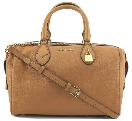 Michael Kors Grayson Large Convertible Pebbled Leather Satchel - Acorn - ACORN - STYLE