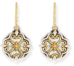 Konstantino Hestia Cutout Mother-of-Pearl Drop Earrings