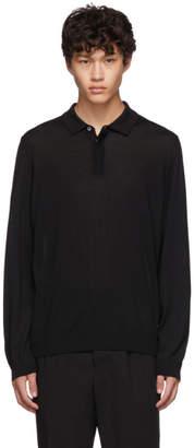 BOSS Black Silk T-Eberto Knitted Polo