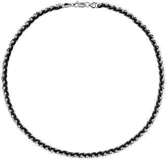 FINE JEWELRY Mens Stainless Steel & Black Ip-Plated Chain Necklace
