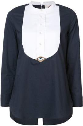 Figue Evil Eye tuxedo shirt