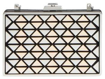 Vince Camuto Fit Metal & Suede Minaudiere