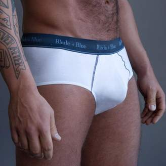 Blade + Blue White Brief Underwear