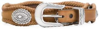 Jessie Western woven detail embellished belt