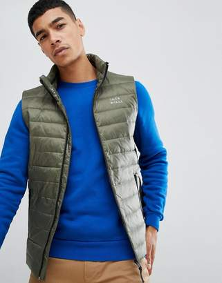 Jack Wills Knole synthetic down vest in khaki