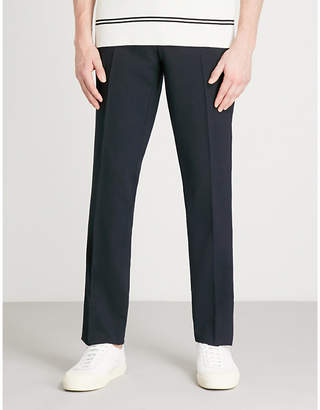 Sandro Slim-fit tapered stretch-wool trousers