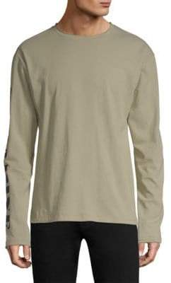 Dim Mak Patch Long-Sleeve Cotton Tee