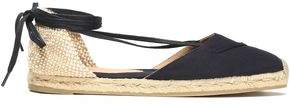 Castaner Kara Lace-Up Woven Canvas Espadrilles
