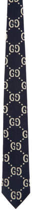Gucci Navy and White GG Tie