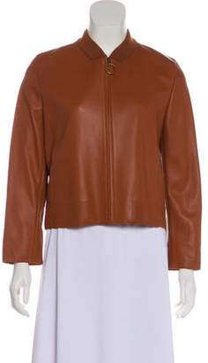 Akris Punto Accented Leather Jacket w/ Tags
