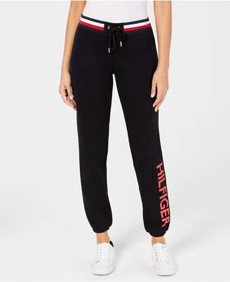 Tommy Hilfiger Logo Elastic-Cuff Sweatpants