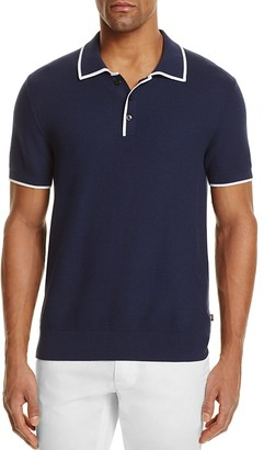 Michael Kors Tuck Stitch Tipped Regular Fit Polo Sweater - 100% Exclusive $149.50 thestylecure.com