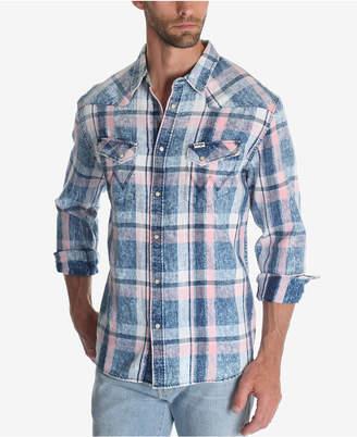 Wrangler Men's Plaid Western Shirt