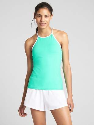 Gap GapFit High-Neck Tennis Shelf Tank Top