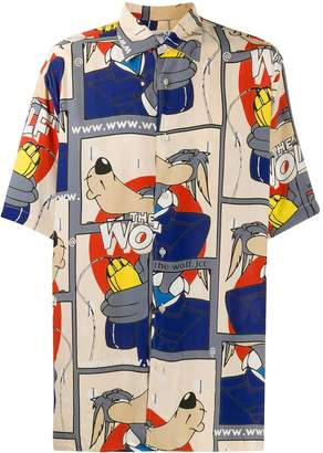 JC de CASTELBAJAC Pre-Owned The Wolf oversized shirt