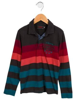 Catimini Boys' Embroidered Striped Shirt