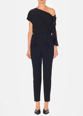 Tibi Anson Stretch High Waisted Skinny Tie Pants