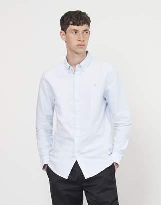 Farah Brewer Long Sleeve Oxford Shirt Blue