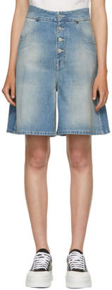 MM6 MAISON MARGIELA Indigo Light Garage Wash Denim Shorts