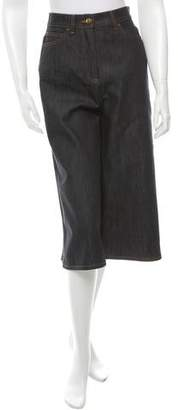 Valentino High-Rise Denim Culottes w/ Tags