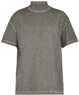 A-Cold-Wall* A Cold Wall* Logo Ribbed Cotton T Shirt - Mens - Grey