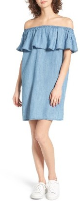 Women's Hinge Off The Shoulder Chambray Cover-Up $39 thestylecure.com