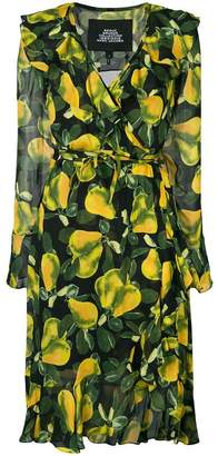 Marc Jacobs pear print wrap dress