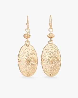 Gold-Tone Medallion Drop Earrings