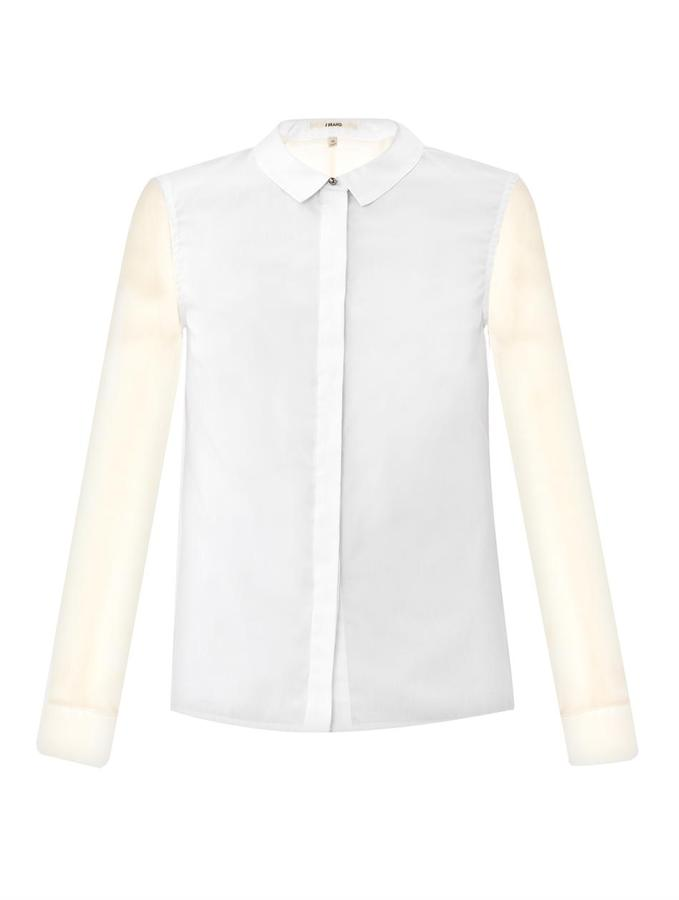 J Brand Harriet contrast panel shirt