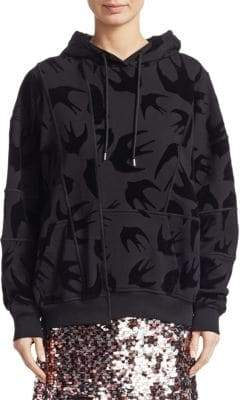 McQ Seamed Swallow Print Sweatshirt