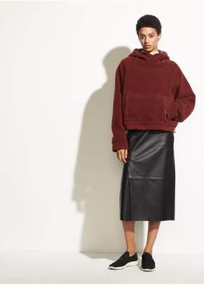 Vince Leather Slit Skirt