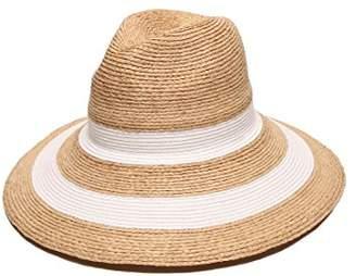 Gottex Women's Newport Raffia/Toyo Fedora Sun Hat