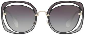 Miu Miu Cut-Out Irregular Sunglasses