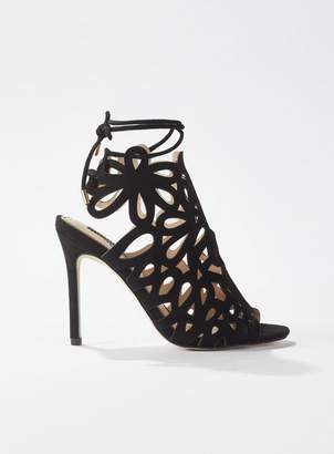 852a0c86cb4 Miss Selfridge SUZANNA Black Caged Stiletto Heeled Sandals