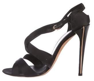 Nina Ricci Satin Ankle Strap Sandals