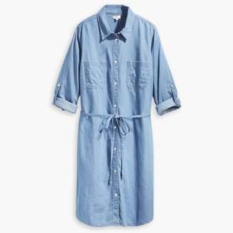 86a1f9139a Levi s Bebe Plus Size Denim Tie-Waist Shirt Dress