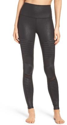 Women's Alo High Waist Moto Leggings $114 thestylecure.com