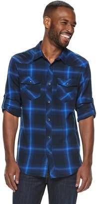 Rock & Republic Men's Plaid Button-Down Flannel Shirt
